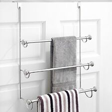 Metal Over the Shower Door 3-Bar Towel Rack Bathroom Storage