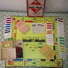 Vintage 1957 Waddingtons Monopoly Board Game Rare Small Box Version Complete VGC