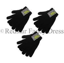3 x PAIRS OF BLACK MAGIC GLOVES THERMAL WINTER OUTDOOR WOOLLY SNOOD XMAS UNISEX
