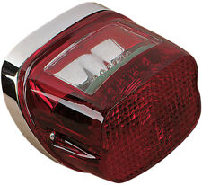 Drag Specialties LED Taillight Assembly For Harley Chrome with Red Lens DS280457