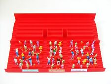61216 Subbuteo Red Grandstand Terrace Section with 65 painted spectators