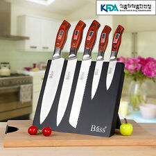 5P Chef kitchen knife set Bread Fruit cook Knives magnet block Stainless Steel Z