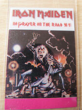 IRON MAIDEN Laminated Backstage Tour Pass - NO PRAYER ON THE ROAD 1990/1
