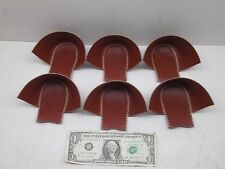 NEW NOS LOT OF 6 VINTAGE LEATHER RED BROWN HEELS REPLACEMENT REPAIR CABIN