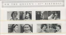 GB 2006 QUEENS 80TH PRESENTAION PACK No. 383 SG 2620-2627 MINT STAMP SET