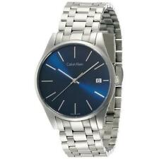 CALVIN KLEIN MEN'S STEEL BRACELET & CASE QUARTZ BLUE DIAL WATCH K4N2114N