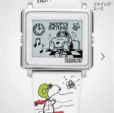 New EPSON Smart Canvas matrix EPD Digital Watch Peanuts Snoopy Flying Ace Japan