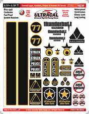 MG3632-1 Themed Logos, Numbers, Stripes & Roundel RC Decals, Graphics, Stickers
