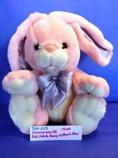 Commonwealth Pink and White Bunny/Rabbit with Purple Bow(310-1117)