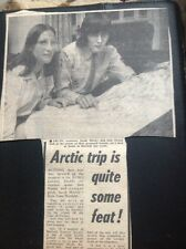 L2-9 Ephemera 1973 Picture Article Arctic Trip Sarah Morley Iain Young Hatfield