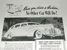 1939 Hudson Motor Car ad, Hudson Six Touring Sedan