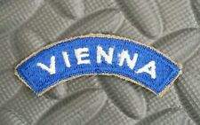 US Army Patch Tab  VIENNA WWII Original New Old Stock Item / Cut Edge