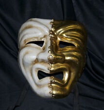 Adult Masquerade Mask Comedy And Tragedy Mardi Gras Sad Crying Venetian Mens