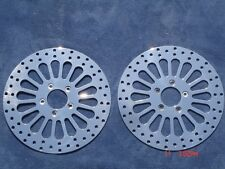 """11.5"""" SUPER SPOKE FRONT & REAR Chrome Disc ROTOR HARLEY SOFTAIL DELUXE Fit 00-14"""