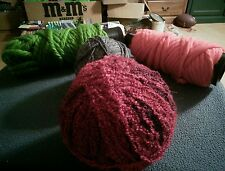 Lot of 4 Skeins Knitting Yarn different colors