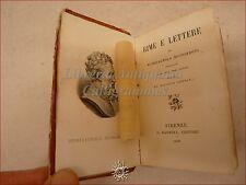 Mini Libro - RIME e LETTERE di MICHELAGNOLO BUONARROTI 1860 Barbera Condivi