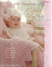 Beautiful Borders Baby Blankets Patricia Kristoffersen Crochet Patterns NEW ASN