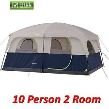 Ozark 10-person 2 Room Cabin Tent Waterproof Rainfly Camping Hiking Outdoor NEW!