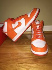 NIKE DUNK RETRO HIGH QS Syracuse Orange Basketball Shoes 850477 101 Sz 9 NEW