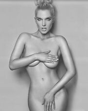 8x10 Photo Fine Art Busty Beautiful female  Model Artistic B&W Nude 92215-26