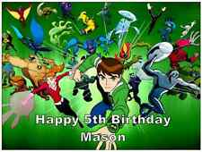 "Ben 10 A4 Cake Topper Personalised  Edible Wafer Paper 7.5"" by 10"""