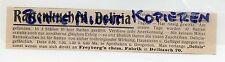 DELITZSCH, Werbung 1913, Freybergs chemische Fabrik Ratten-Kuchen Delicia