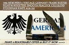 NEW/MINTy GERMANY FRANK BUSTER FIGHT'N ROOSTER (#228/250) PEACOCK STOCKMAN KNIFE