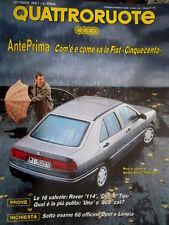 Quattroruote 432 1991 Come va la Fiat Cinquecento. Pro e contro Seat Toledo Q97]