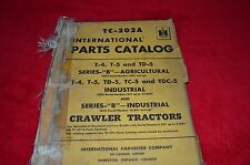 International Harvester T-4 T-5 TD-5 B Crawler Tractor Dealer's Parts Book ABPA