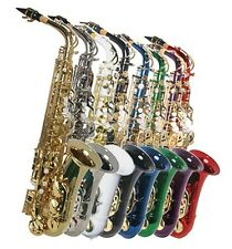 NEW  ALL COLOR  ALTO SAXOPHONE SAX W/5 YEARS WARRANTY.