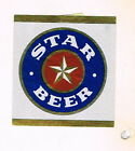 Tough Greece Star Beer Unused metallic label Tavern Trove Patras