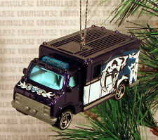 SABER TOOTH TIGER AMBULANCE PURPLE CHRISTMAS ORNAMENT XMAS