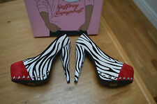 Jeffrey Campbell Okay Fur Zebra Pony Hair Platform Courts Size UK 4 BNIB