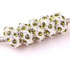 Fashion 5pcs Silver CZ nest big hole Beads Fit European Charm Bracelet DIY #C100