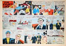 Tim Tyler's Luck by Young - large half-page color Sunday comic - July 27, 1947