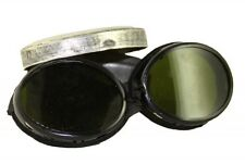 1920s military army antique surplus mountain snow goggles #2 no straps with case