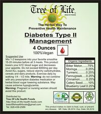 Diabetes Type II Management 4oz DTM-2 Powder For Smoothies Organic & Vegetarian