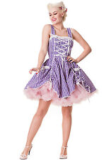 Hell bunny summer dress lilac gingham cowgirl new size 10 40s/50s style gwen