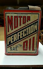 Vintage 2 Gal. Motor Perfection Motor Oil Can J.A. Yerger Inc.