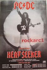 AC/DC Heatseeker Tour 1988  UK magazine ADVERT / mini Poster 11x8""
