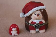 Boyds Bears Resin Santa Hedge n Claus Christmas Treasure Box RET NEW