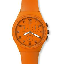 "SWATCH CHRONO PLASTIC ""WILD ORANGE"" (SUSO400) NEUWARE"