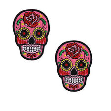 Sugar Skull Flower Iron On Applique Embroidered Patch DIY Sewing Patch Sticker