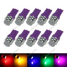 10X Changing Color RGB 1 LED COB T10 W5W Wedge Side Light Car Bulb Lamp 12V A131