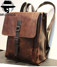 New Retro Men's PU Leather Backpack Shoulder Messenger Bags Briefcase Laptop bag