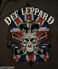DEF LEPPARD cd lgo ROCK OF AGES Skull Official SHIRT LRG New pyromania