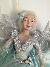 Katherine's Collection Silver and Blue Fairy Ornaments Set of 3 Retired
