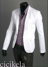 One Button Suit Coat For Men Formal Casual Dress Slim Fit Blazer Jacket Elegant
