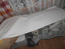 "VINTAGE ASHTONS 56"" LONG X18"" WIDE WHITE COTTON BOLSTER OR DOUBLE PILLOW CASE"