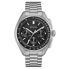 Bulova 96B258 Mens Special Edition Moon Silver Steel Bracelet Watch RRP £579